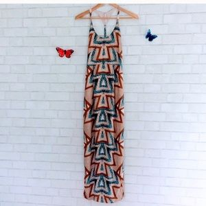 Free People Azure Printed Maxi Dress